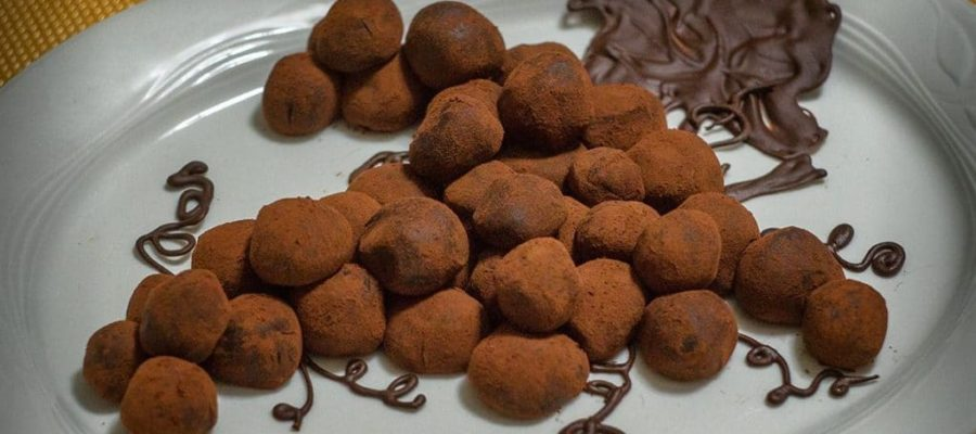Dolce grappolo al cioccolato