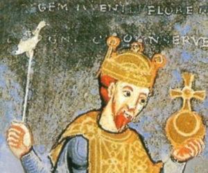 Diploma di Enrico III del 1055 intorno ai Saccensi