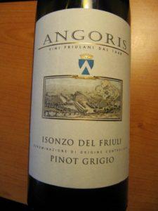 Angoris, Pinot grigio Isonzo DOC 2011