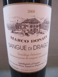Sangue di Drago, Teroldego Rotaliano DOC 2008, 13% VOL.