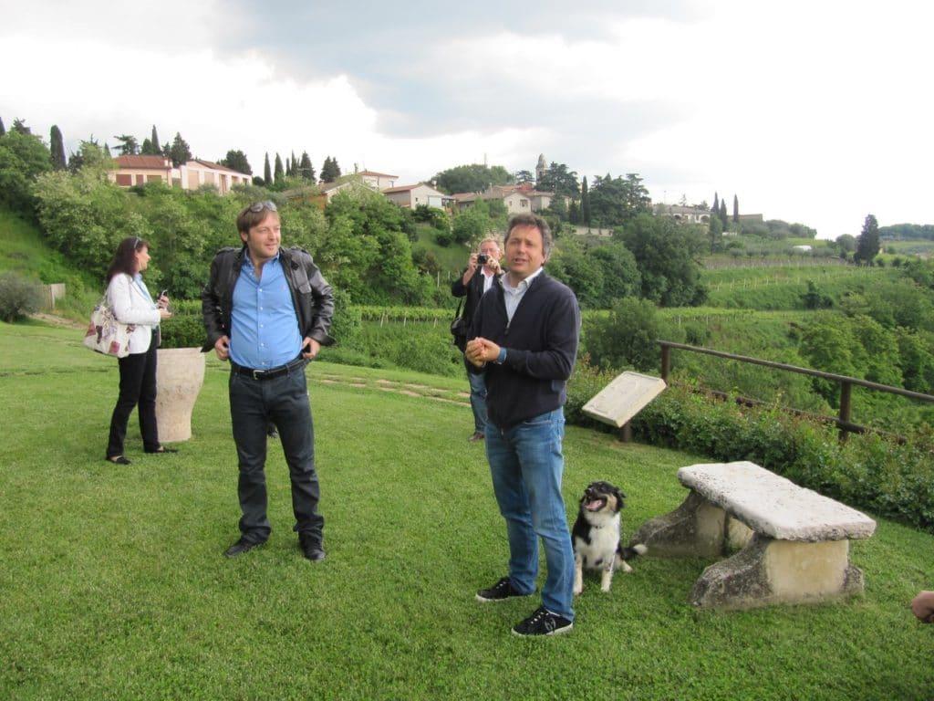 Giovanni Ponchia con Alberto Coffele dell'omonima azienda