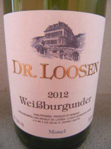 Pinot bianco della Mosella di Dr Loosen