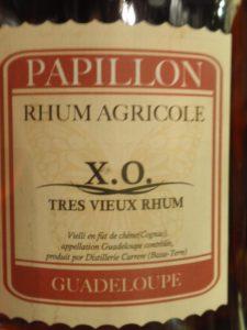 Rhum agricole della Guadalupe,  Papillon X.O.
