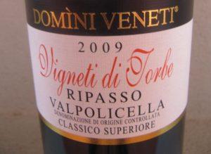 """Domini Veneti: Valpolicella Ripasso DOC Classico Superiore """"Vigneti di Torbe"""", 2009"""
