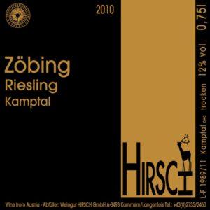 Riesling Zöbing 2010 dell'austriaca valle del Kamptal